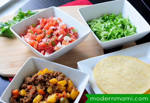 Tacos de Carne Molida: Simple Ground Beef Taco Recipe for Cinco de Mayo, Ingredients