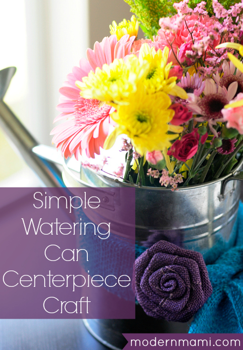 Watering Can Centerpiece Craft
