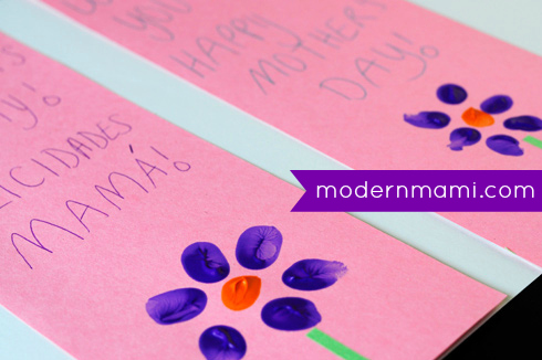 Simple Homemade Mother's Day Card for Kids