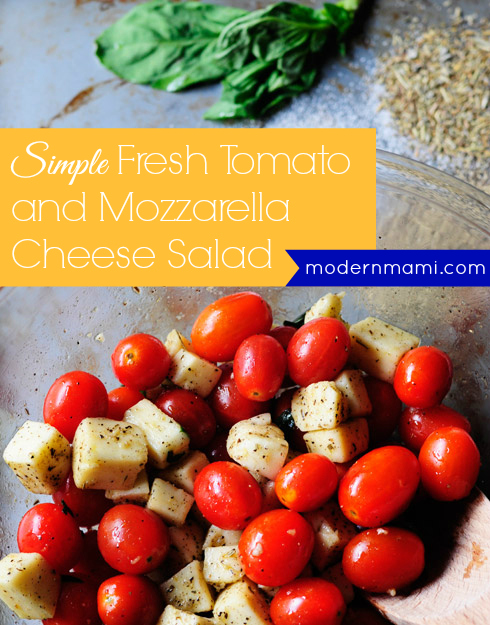 Simple Fresh Tomato and Mozzarella Cheese Salad