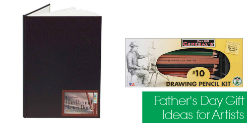 Sketch Book & Pencil Set - 5 Father's Day gift ideas for artists or gamers, all under $30