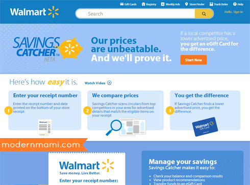Walmart's Savings Catcher