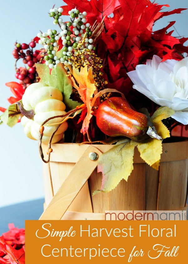 Fall harvest floral centerpiece simple home decor