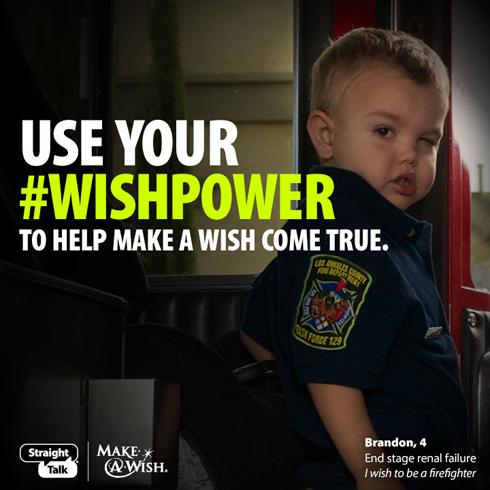 Straight Talk Give a Minute, Help Make-A-Wish Program