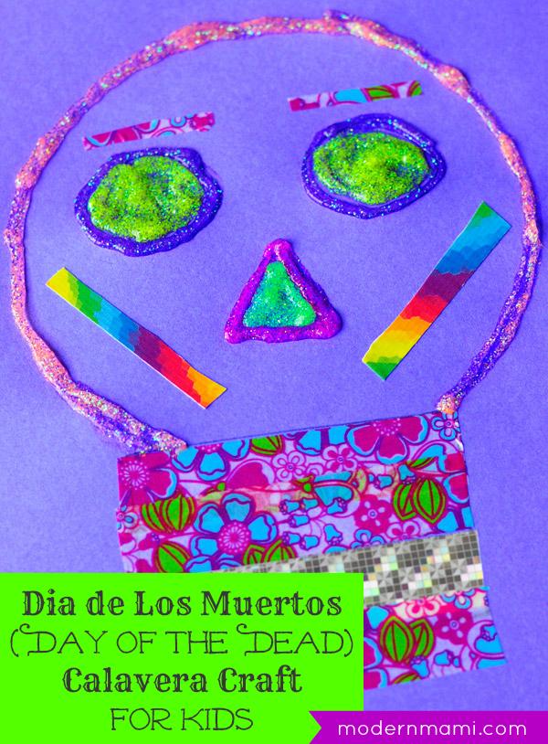 Día de Los Muertos (Day of the Dead) Calavera Craft for Kids