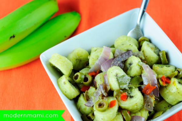 Guineos En Escabeche Puerto Rican Green Banana Salad