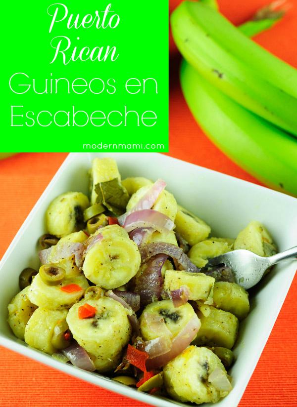 Guineos en Escabeche