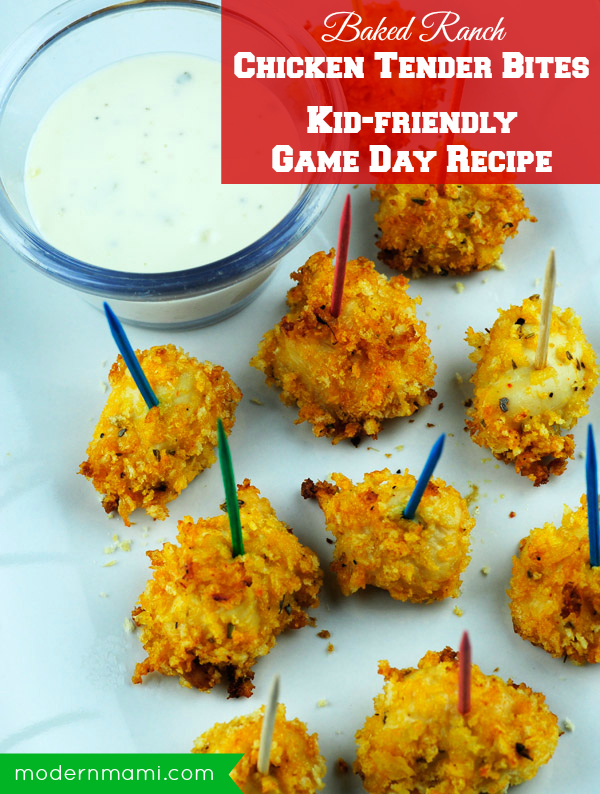 Kid-Friendly Game Day Recipe: Baked Ranch Chicken Tender Bites