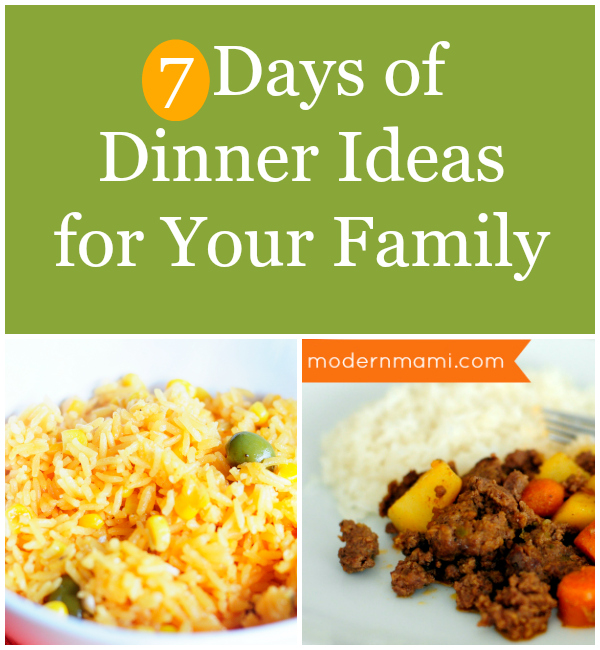 sample family meal plans