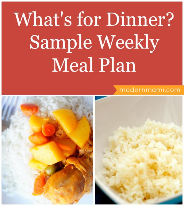 Weekly Dinner Menu Plan
