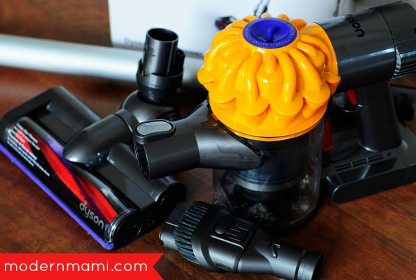 5 reasons to love the dyson v6 slim review modernmami. Black Bedroom Furniture Sets. Home Design Ideas