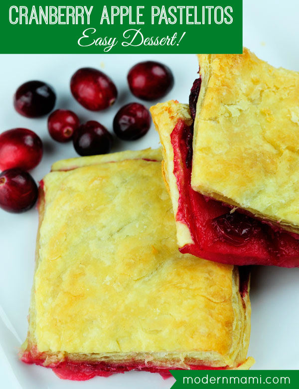 25 Puerto Rican & Caribbean Thanksgiving Recipes, Cranberry Apple Pastelitos (Puff Pastries)