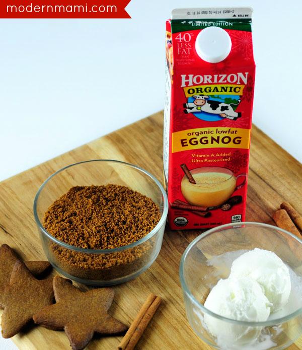 Gingerbread Eggnog Shake