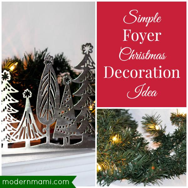 Decorating Ideas > Simple Foyer Christmas Decoration Idea — Modernmami™ ~ 042726_Quick Christmas Decoration Ideas
