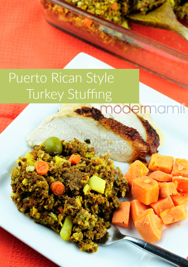 Puerto Rican Style Turkey Stuffing for Thanksgiving