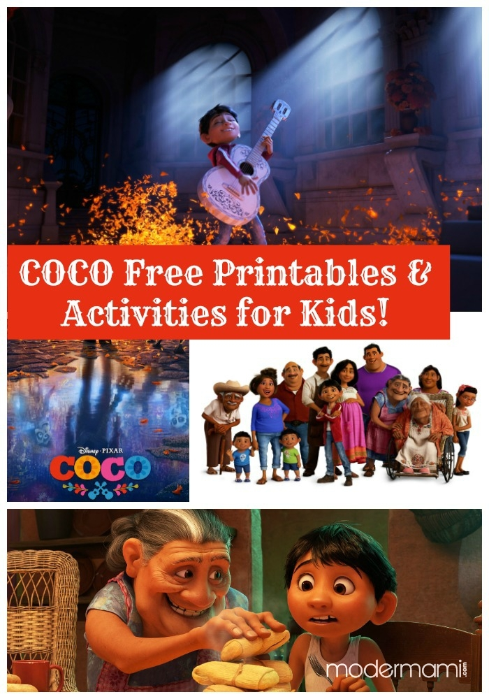 Disney Pixar S Coco Free Printables And Activities For Kids